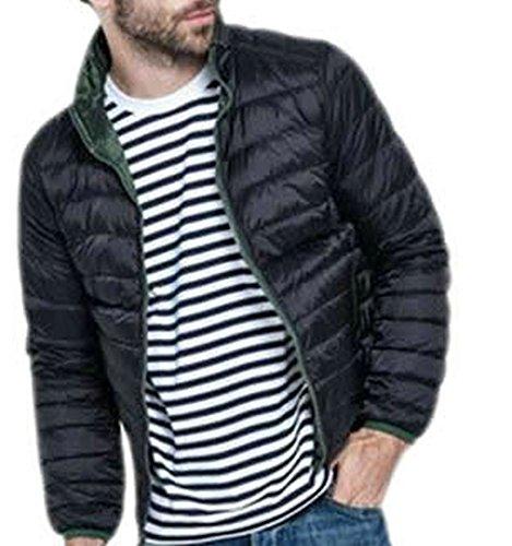 EKU Mens Double Sided Fashion Down Jacket Coats XL black1
