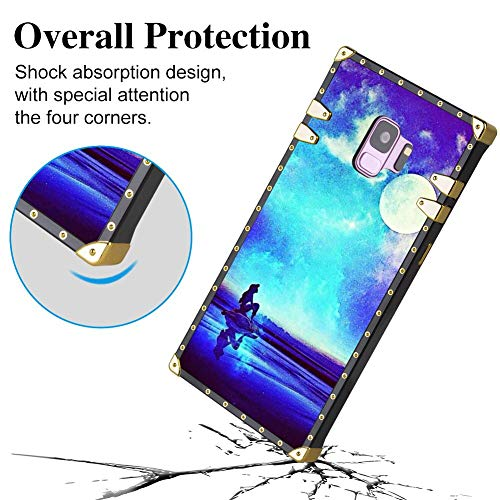 DISNEY COLLECTION Square Edge Cell Phone Case Compatible for Galaxy S9 (2018) (5.8 Version) Ariel Disney Mermaid Princess The Little Under Sea (The Real Version Of The Little Mermaid)