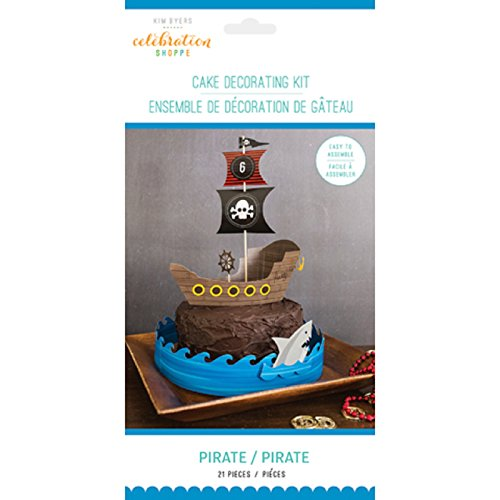 Celebration Shoppe GX-30000540 Decorative Pirate Cake Toppers, Multicolor