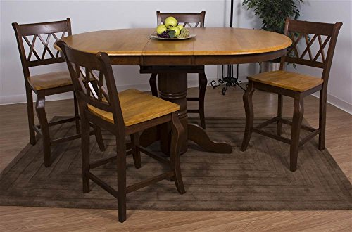 5-Pc Eco-friendly Double Butterfly Leaf Pub Table Set
