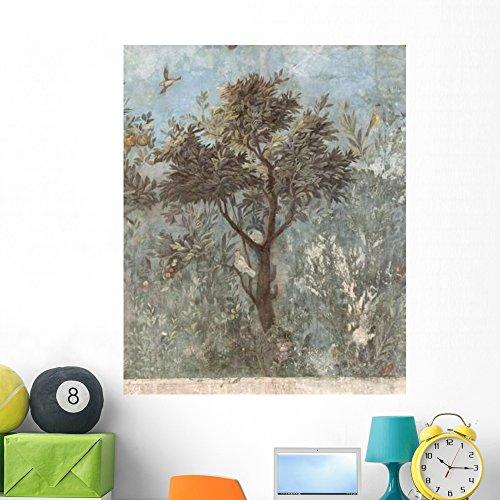 (Roman Fresco Tree with Wall Mural Wallmonkeys Peel and Stick Graphic (48 in H x 39 in W) WM242202)