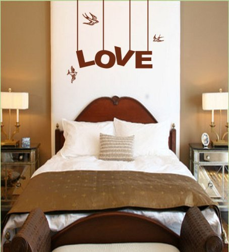 Genial Love Birds With Hanging Sign Wall Decal. Great Way To Decorate A Romantic  Bedroom #