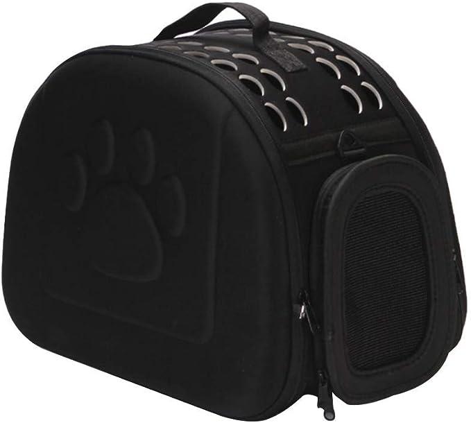 Mascota llevar bolsas for el gato cachorro de gran capacidad del animal doméstico portátil portador del gato bolsa de EVA al aire libre plegable del perro casero bolsa de viaje lucar ( Color : Black )