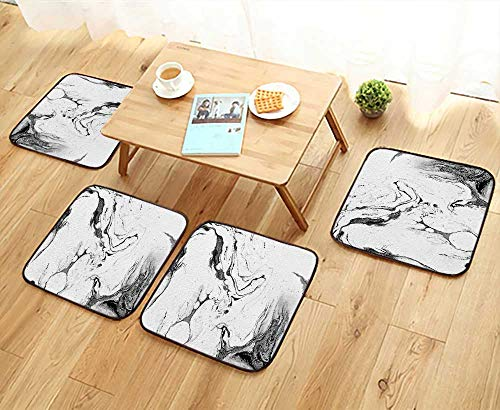 UHOO2018 Universal Chair Cushions Background Liquid Ink on Paper Grunge Texture for Card Poster Personalized Durable W15.5 x L15.5/4PCS Set