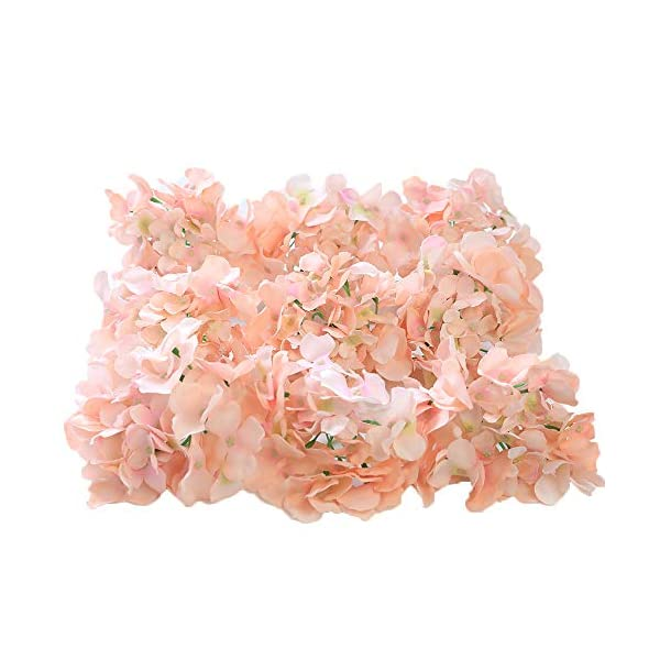 Veryhome Blooming Silk Hydrangea Flower Heads for DIY Bouquets Wedding Centerpieces Home Decor 12pcs pink