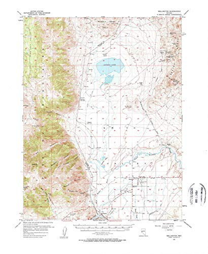 - Wellington NV topo map, 1:62500 Scale, 15 X 15 Minute, Historical, 1957, 21.9 x 18 in - Paper