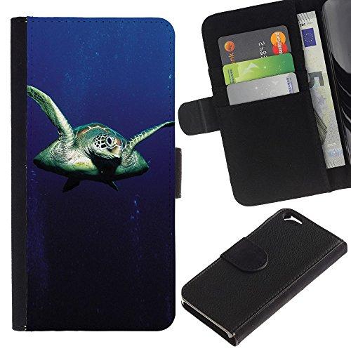 EuroCase - Apple Iphone 6 4.7 - Sear Turtle - Cuir PU Coverture Shell Armure Coque Coq Cas Etui Housse Case Cover
