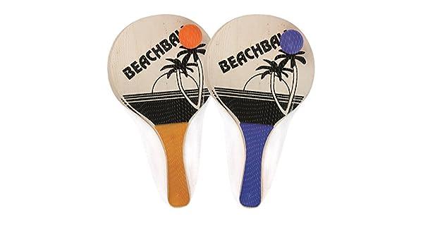 Home Fusion Juego de 2 bates de pádel de playa con 1 pelota de verano, raquetas de playa, bola de jardín: Amazon.es: Hogar