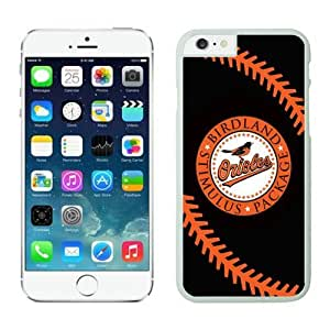LarryToliver DIY Baseball Baltimore Orioles team cover for iPhone 6 Cases(4.7 inch)-White by ruishername