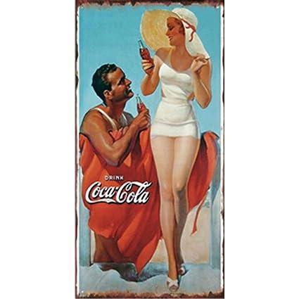 Amazon com: FlowerBeads 20X30Cm Bar Vintage Metal Signs Wall