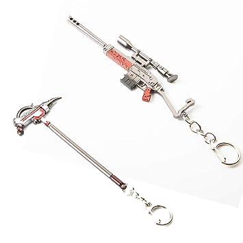 WQWQ Rifle de Asalto Llavero Armas de Fuego Llavero Llavero ...