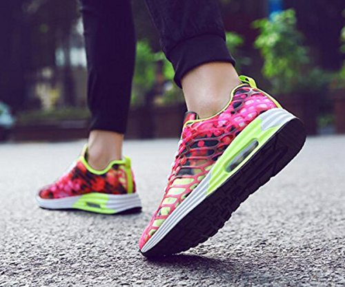 GFONE Women's Men's Unisex Air Running Trainers Gym Outdoor Sports Sneakers Casual Shoes Size 2.5-10.5 Red PcV2ryjmPP