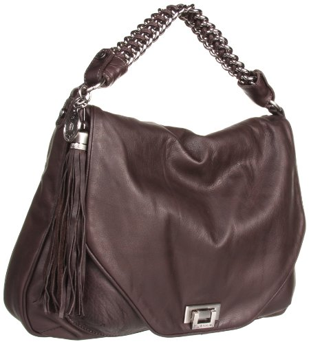 Tylie Malibu Jetset Devlin Hobo with Chain Strap,Chocolate,one size, Bags Central