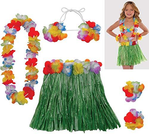 amscan Child Size Hula Skirt Party Kit]()