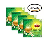 PACK OF 4 - Lipton Green Tea K Cups, 18 Ct