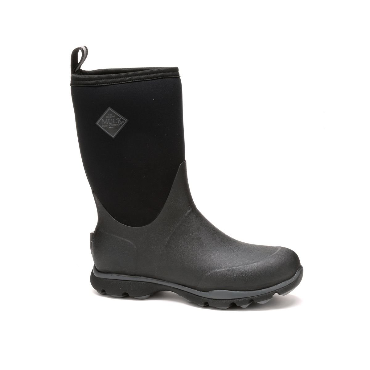 Muck Boot Men's Arctic Excursion Mid Snow Boot, Black/Gray, 15 US/15-15.5 M US