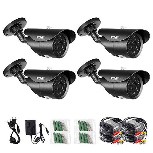 ZOSI 4 Pack 1000TVL 960H indoor outdoor Day Night Vision Wea