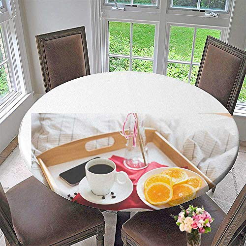 Mikihome Round Tablecloths The Romantic Beauty of Breakfast or Everyday Dinner, Parties 50