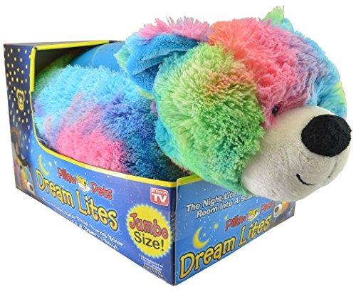 Dream Teddy Bear (Pillow Pet Dream Lites Jumbo Rainbow Peaceful Bear)