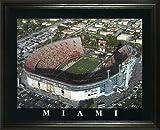 Miami Hurricanes - Miami Orange Bowl Aerial - Lg - Framed Poster Print