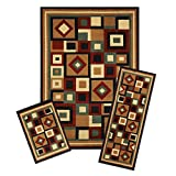 Achim Home Furnishings 3 Piece Capri Rug Set, 5 by 8', Chelsea