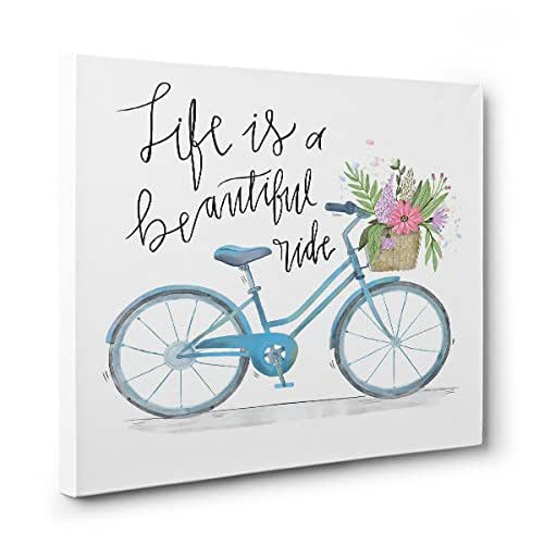 Bicycle Home Decor: Amazon.com: Life Is A Beautiful Ride BICYCLE CANVAS Wall