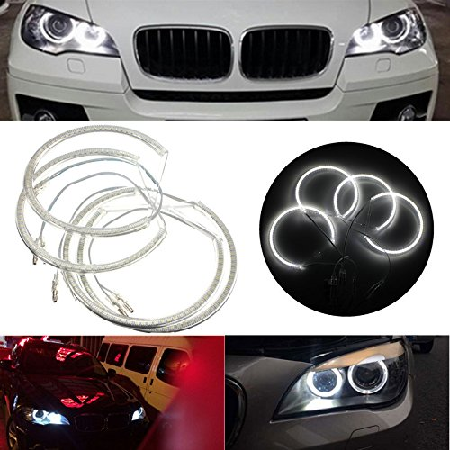 K&A company Xenon Headlight 3528 LED Angel Eyes Halo Rings Kit for BMW E60 E39 E90 E46 E38 (E46 Type Bmw)