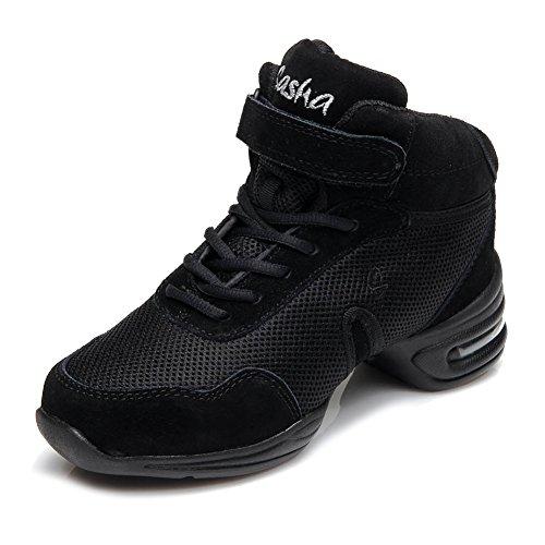 itb60 Hop modern Jazz donne 2 Donna Tennis Sport Hip Tela Hipposeus Nero Danza Scarpe mesh modello Ballo Sneaker Da wnFvqfxa