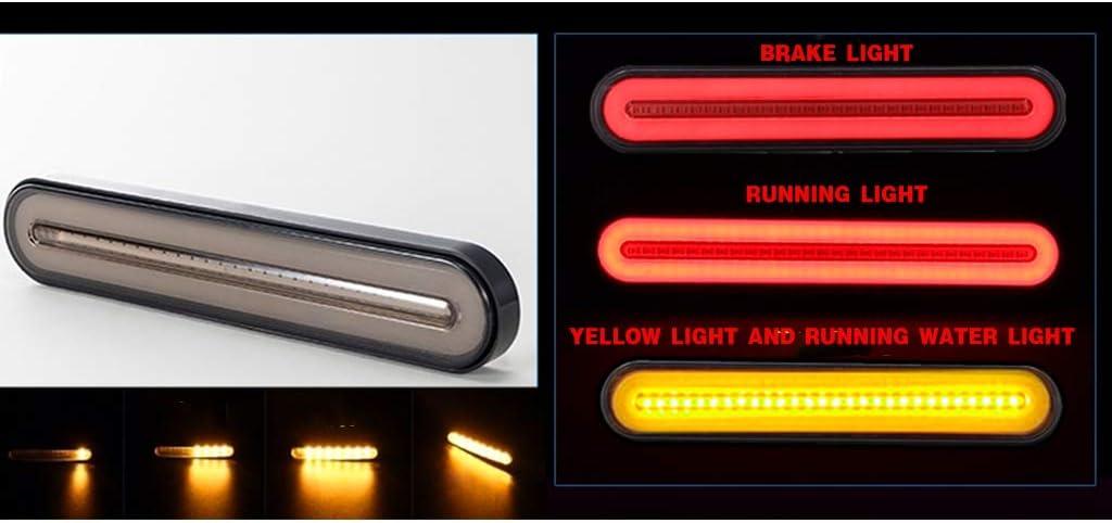 Neon LED RV Trailer Truck Stop Flowing Turn Signal Brake Rear 2PCS Sidougeri Tail Light Lamp