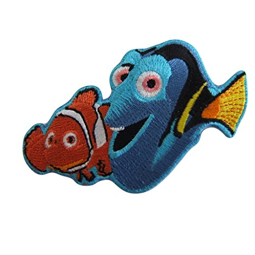 Disney's Finding Nemo Series Marlin And Dory Best Friends Embroidered Patch Decorative Applique (Nemo And Marlin Costumes)