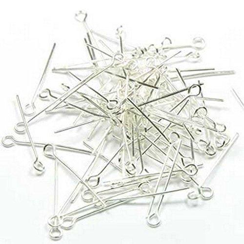 25mm 250 Silver Length Round Ball Dot Head Pins Beaded Needle Headpins Wire Beading Tool Dasuke