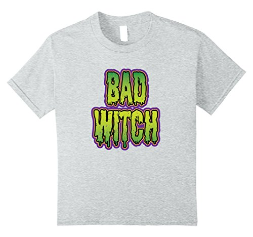 Festival Costume Simple (Kids Bad Witch Scary and Funny Halloween simple costume 10 Heather Grey)