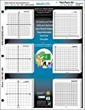 MiniPLOT Graph Paper Kit: 6 XY axis coordinate grid designs printed on 3x3'' Sticky Note Pads. Pads mounted on 8.5x11'' cardstock. 50 adhesive backed sheets per pad.