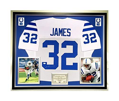 Premium Framed Edgerrin James Autographed/Signed Indianapolis Colts Jersey - JSA - Framed James Edgerrin