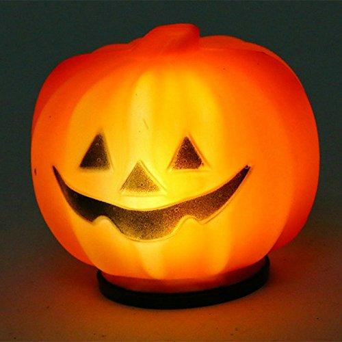 Halloween Pumpkin Light Orange LED Jack-O-Lantern for Festival Home Prop Decoration, Halloween Gift Idea for $<!--$6.17-->