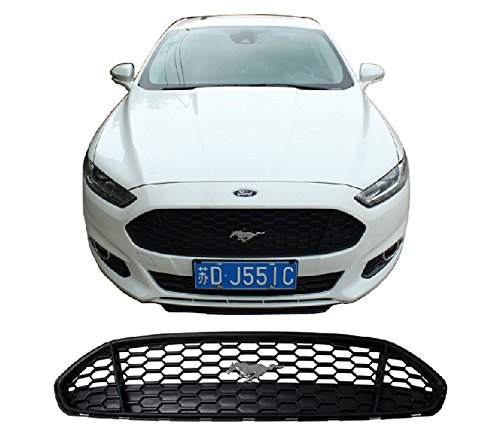- Front Center Mustang Grill Grid Grille Bezel Honeycomb Mesh Cover for Ford Fusion 2014 2015