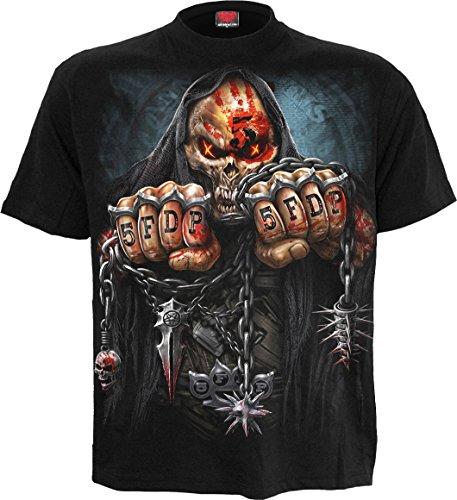 Spiral - Mens - 5FDP - Game Over - Licensed Band T-Shirt Black - L