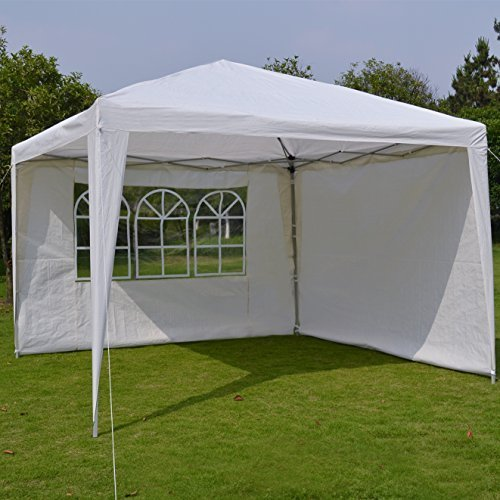 EZ POP UP Wedding Party Tent 10'x10' Folding Gazebo Beach Canopy W/Carry Bag with sidewalls side panel by sunny outdoor inc by  (Image #1)