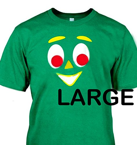 Gumby Face - GUMBY FACE T Shirt - Green T-shirt Size: LARGE