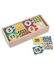 Melissa & Doug Self-Correcting Number Puzzles (Developmental Toys, Wooden Storage Box
