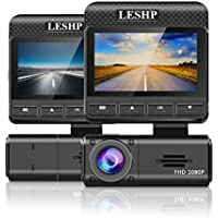 "LESHP 2.45"" Dash Cam,FHD 1080P HD Car Dashboard Camera DVR Video Recorder with Parking Monitor/G-Sensor/Super Night Vision 170° Viewing Angle"
