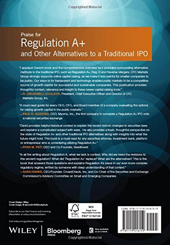 Regulation A+ and Other Alternatives to a Traditional IPO: Financing Your Growth Business Following the JOBS Act (Bloomberg Financial)
