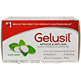 Gelusil Antacid/Anti-Gas Tablets Cool Mint, 100 Tablets (Pack of 4)