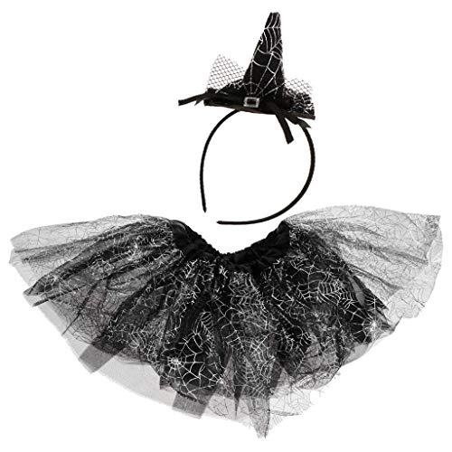 EBTOYS Halloween Tutu Skirt Dress with Headband