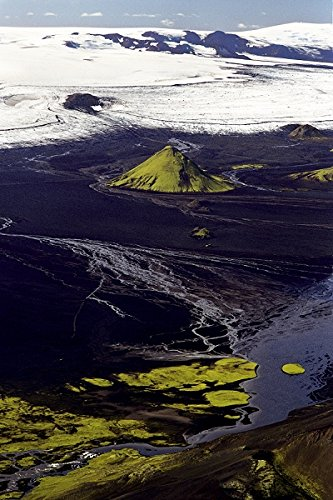 Iceland - High angle view of a river flowing through mountains, Mælifellssandur 30x40 photo reprint by PickYourImage
