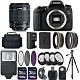 Canon EOS Rebel T6s / 760D Digital SLR Camera + 18-55mm IS STM Lens + 2X 32GB + 58mm Telephoto + Wide-Angle Lens + Filters + Flash + Tripod - International Version (No Warranty) (18-55mm IS STM)