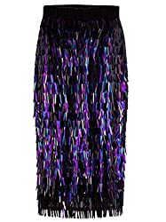 Sequin Midi High Waist Sparkle Pencil Skirt