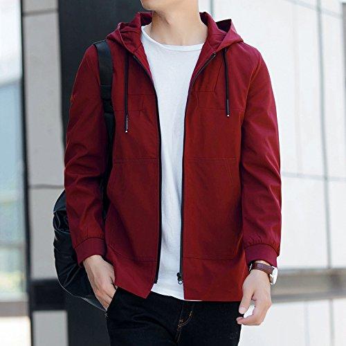 en Sau versión borgoña parte de de chaquetas la larga el Relájese hombre coreana de 1858 elegante hombres la cap XXXL juventud dwaYqv
