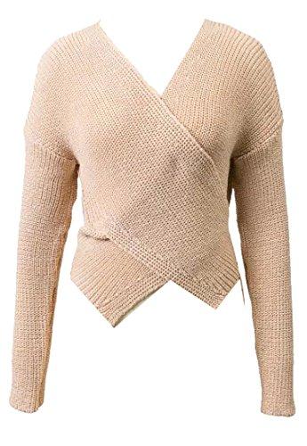 V-Neck Belted Cotton Sweater - 9