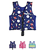 Floaties Kids Swim Vest Pool Swimming Vest for Toddlers & Kids by (Blue, Large)